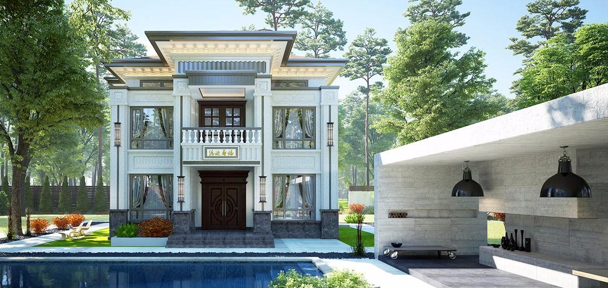 看了这款现代风格二层小别墅,你的眼里还容得下其它风格别墅吗?