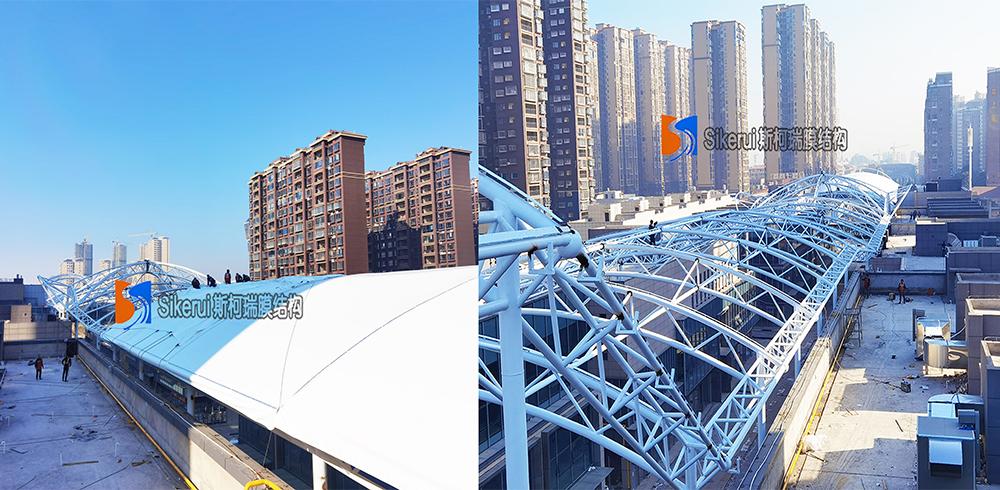 湖南娄底商业街膜结构