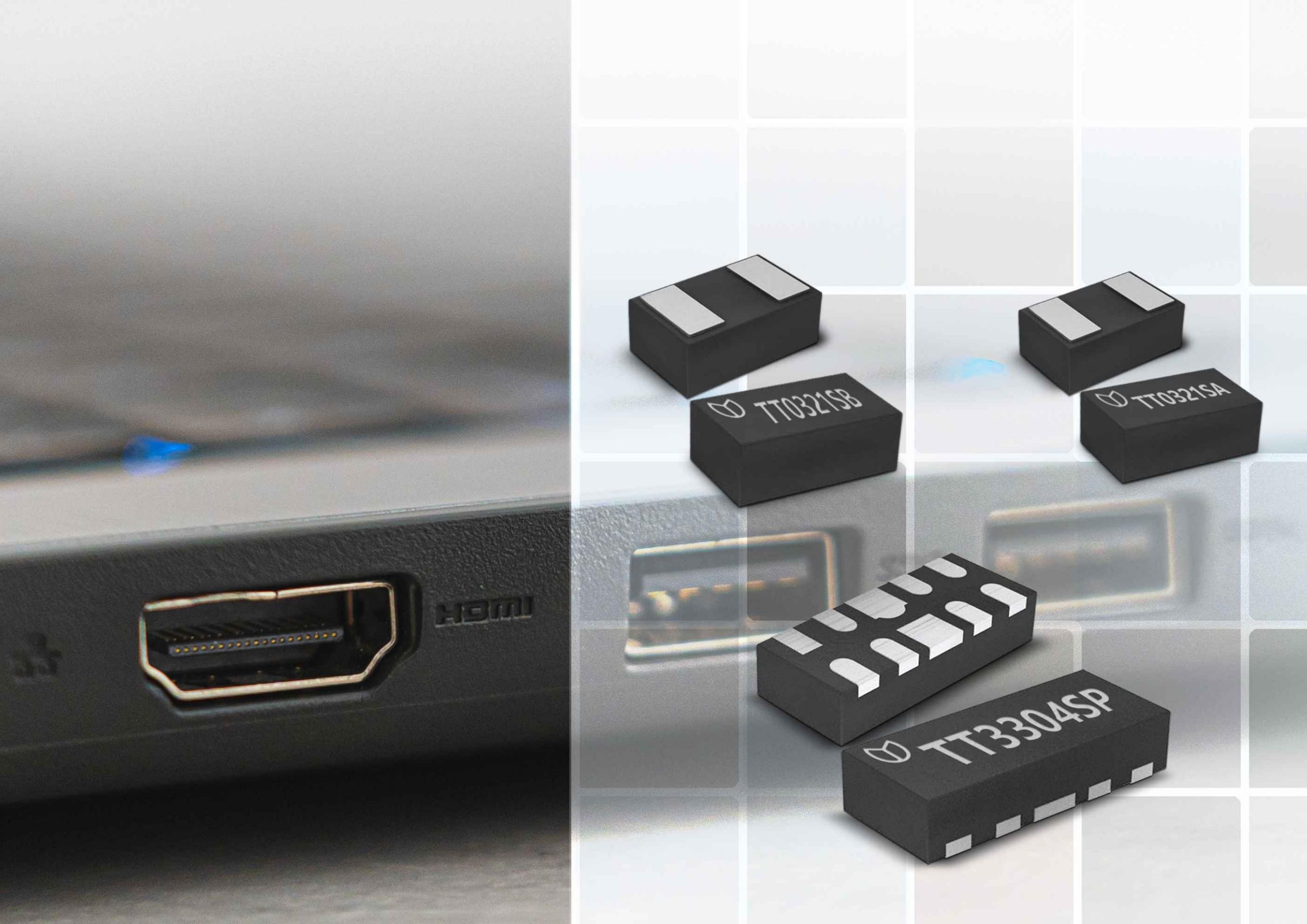 深圳晶扬电子推出业界最佳 HDMI2.1接口的ESD/Surge解决方案