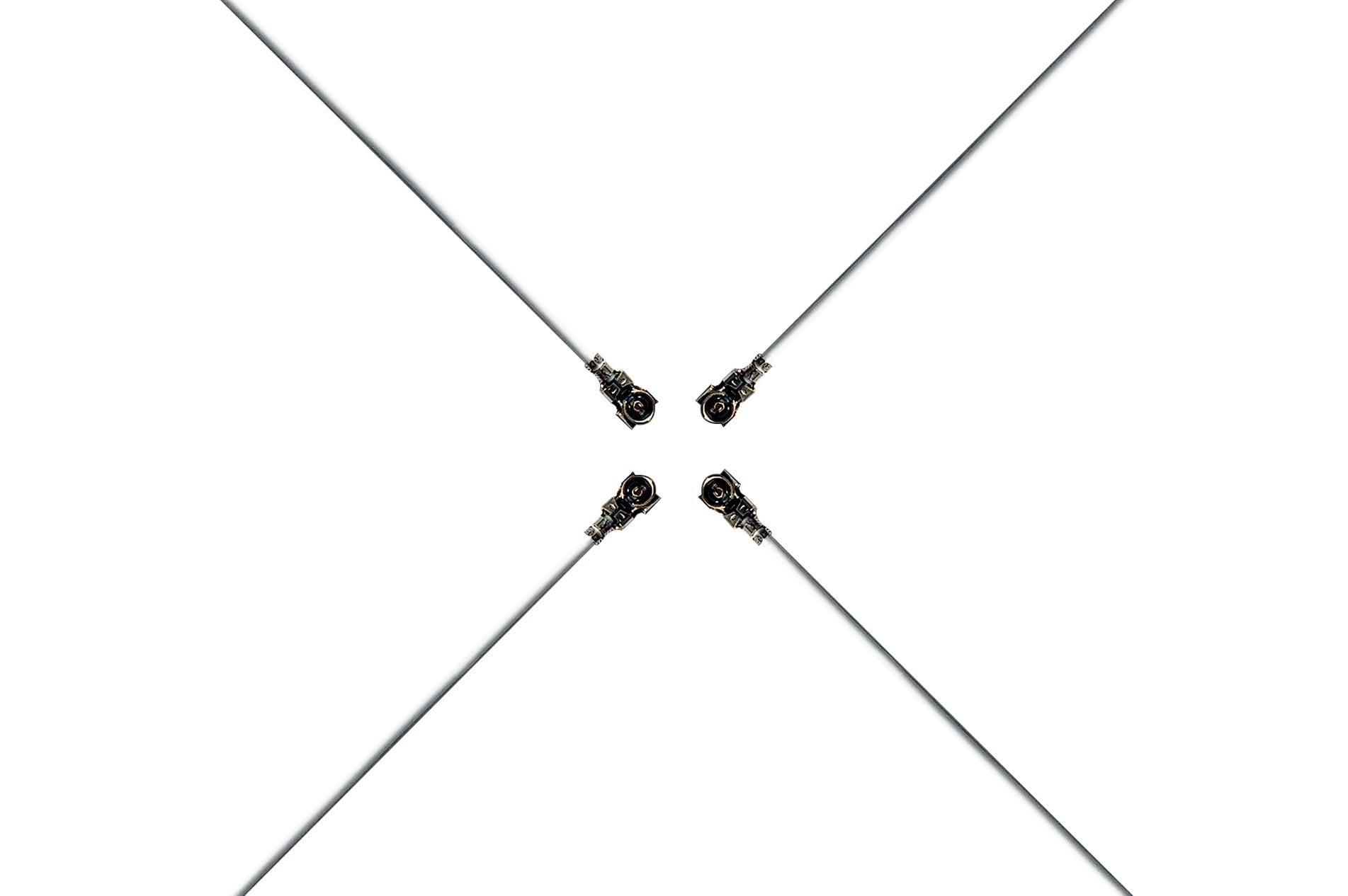 RF5代同轴线(0.64白色;L=137.2mm;双头同向)-7.041AJ