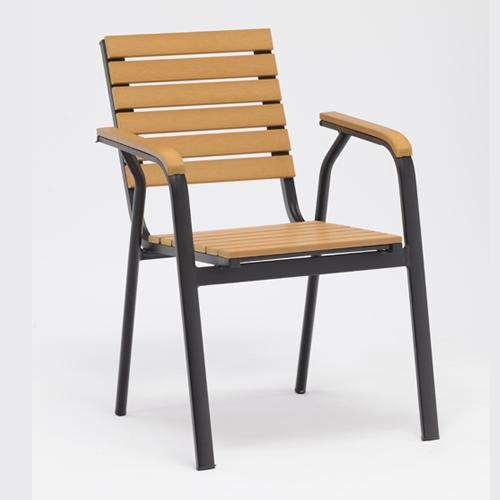 Plastic wood chair