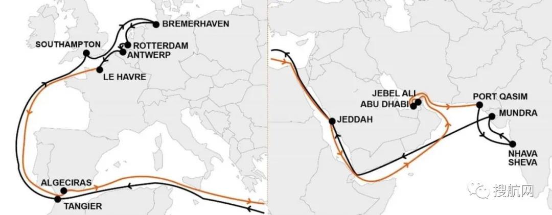 THE联盟、中远、达飞集团宣布1月航线调整及新停航计划