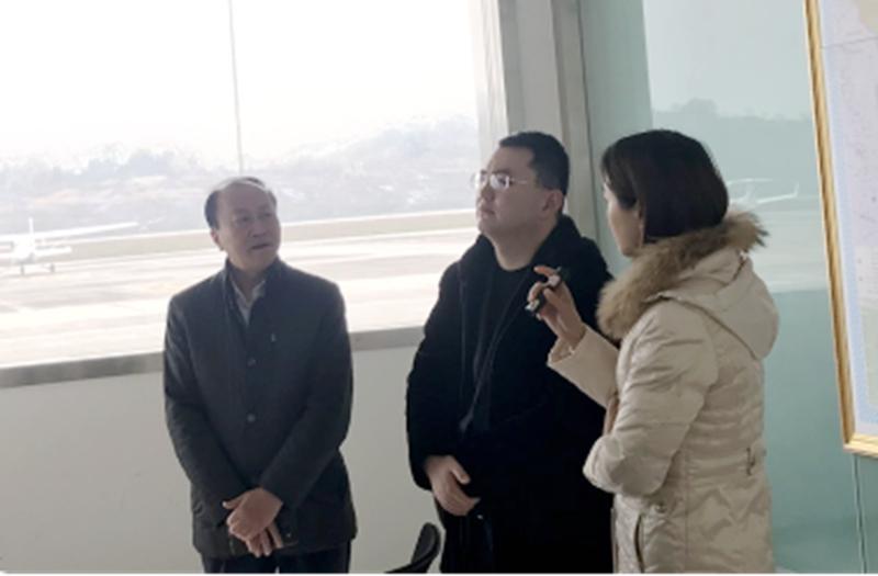 中科招商航空调研自贡航空小镇项目