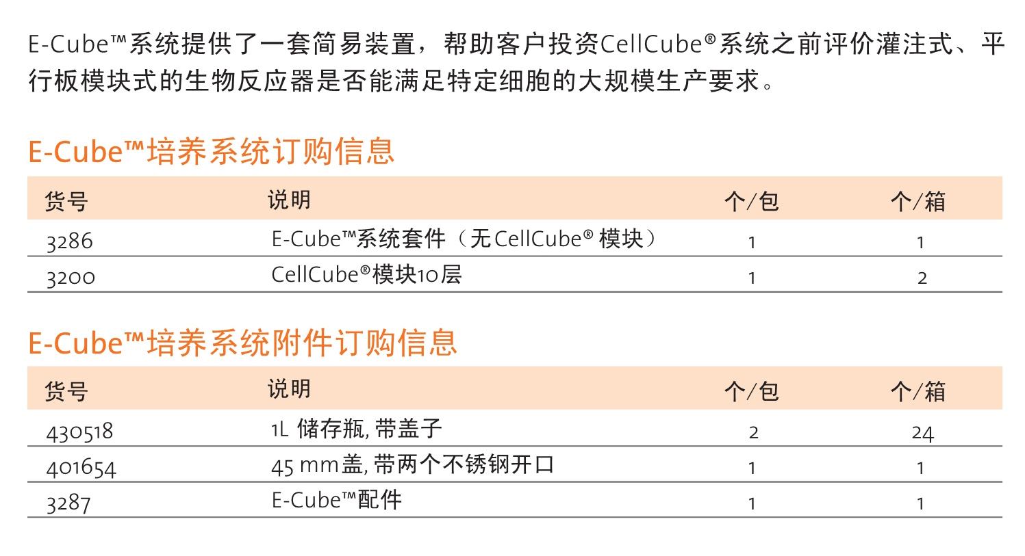 E-Cube™培养系统