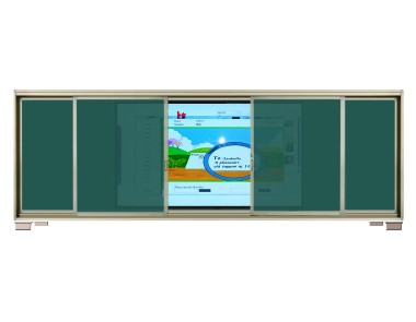 Intelligent Education Interactive board + sliding writing frame board  CB8CT (86 inch capacitive screen) / CB8IT(86 inch infrared screen)