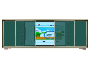 intelligent education interactive board + sliding writing frame board  CB8CF PRO (86 inch capacitive screen) / CB8IF PRO(86 inch infrared screen)