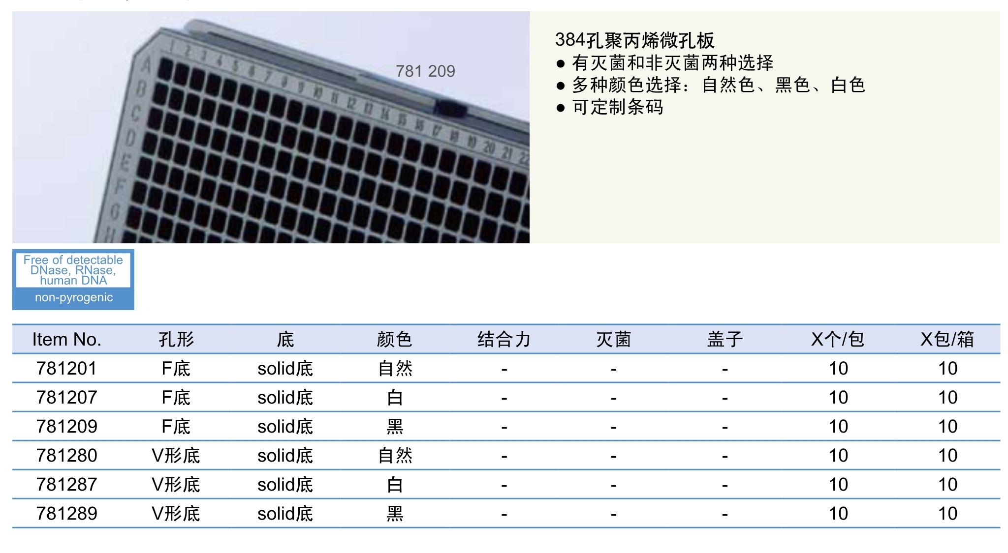 384孔聚丙烯微孔板