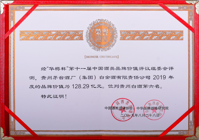 重磅丨白金酒品牌價值達128.29億元,增幅達62.57%