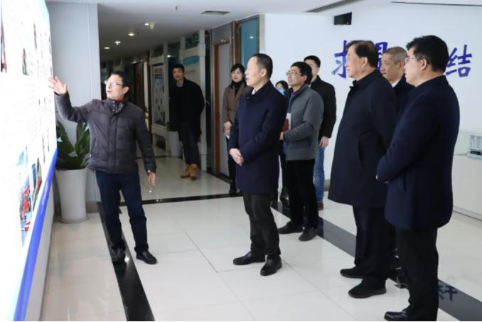 杭州市生态环境局局长孙国方一行莅临我院参观调研