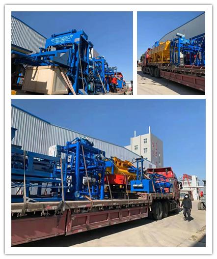 中材建科春运开始,QTY4-15全自动砌块成型机发往广州