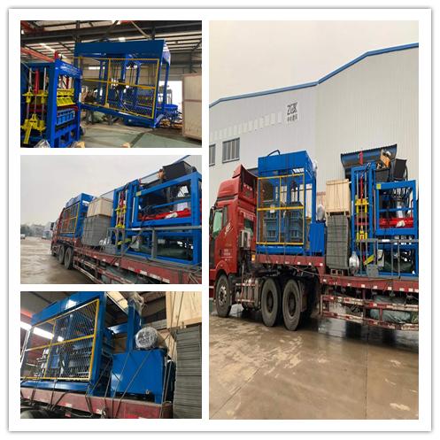 QTY12-15全自动砌块成型机经上海港发往非洲博茨瓦纳