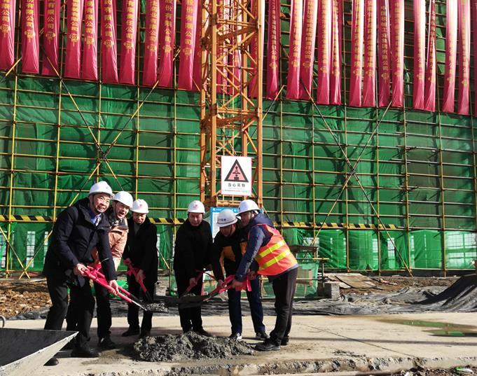我司总承包项目海虹集团巢湖今辰医药产业园项目 顺利封顶