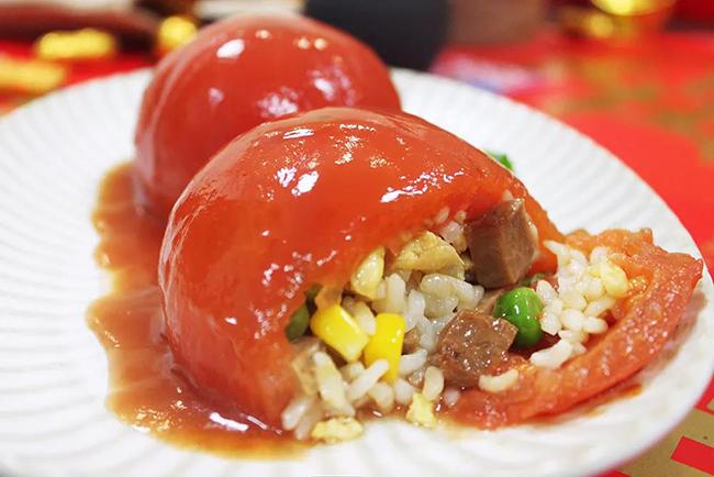 西红柿什锦酿