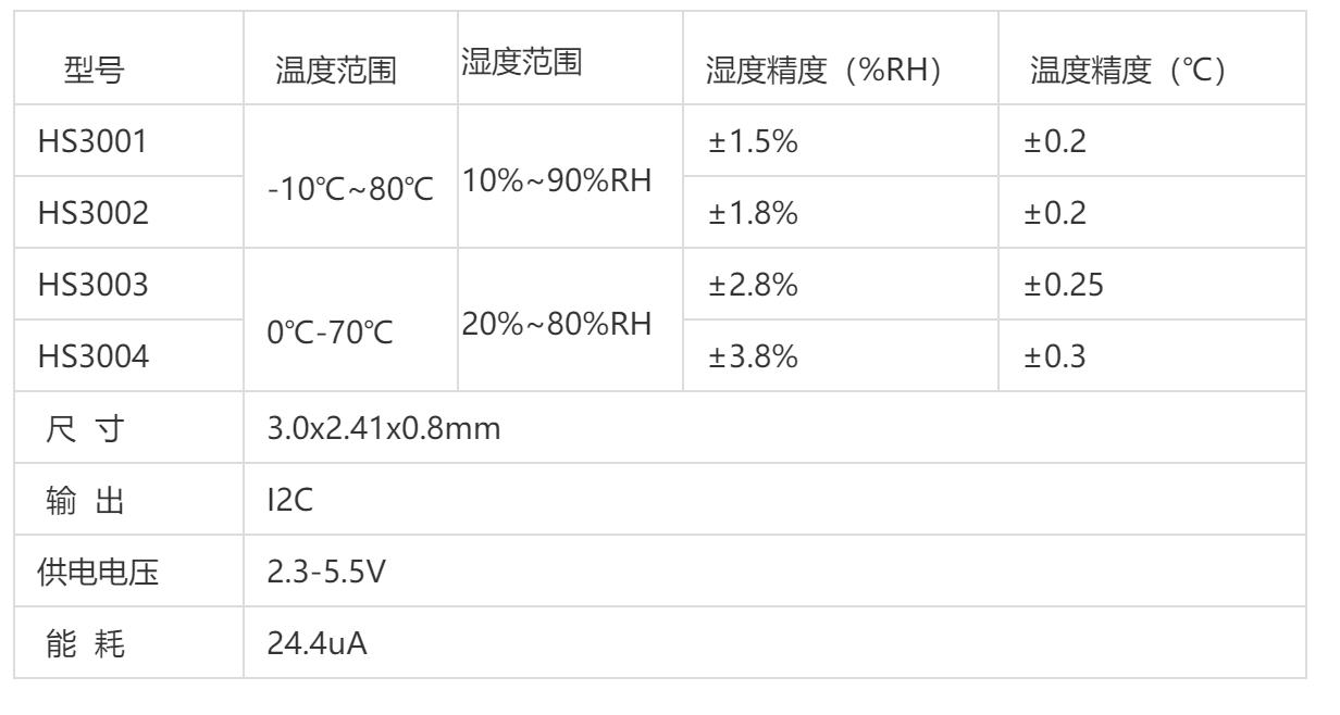 HS3004温湿度传感器