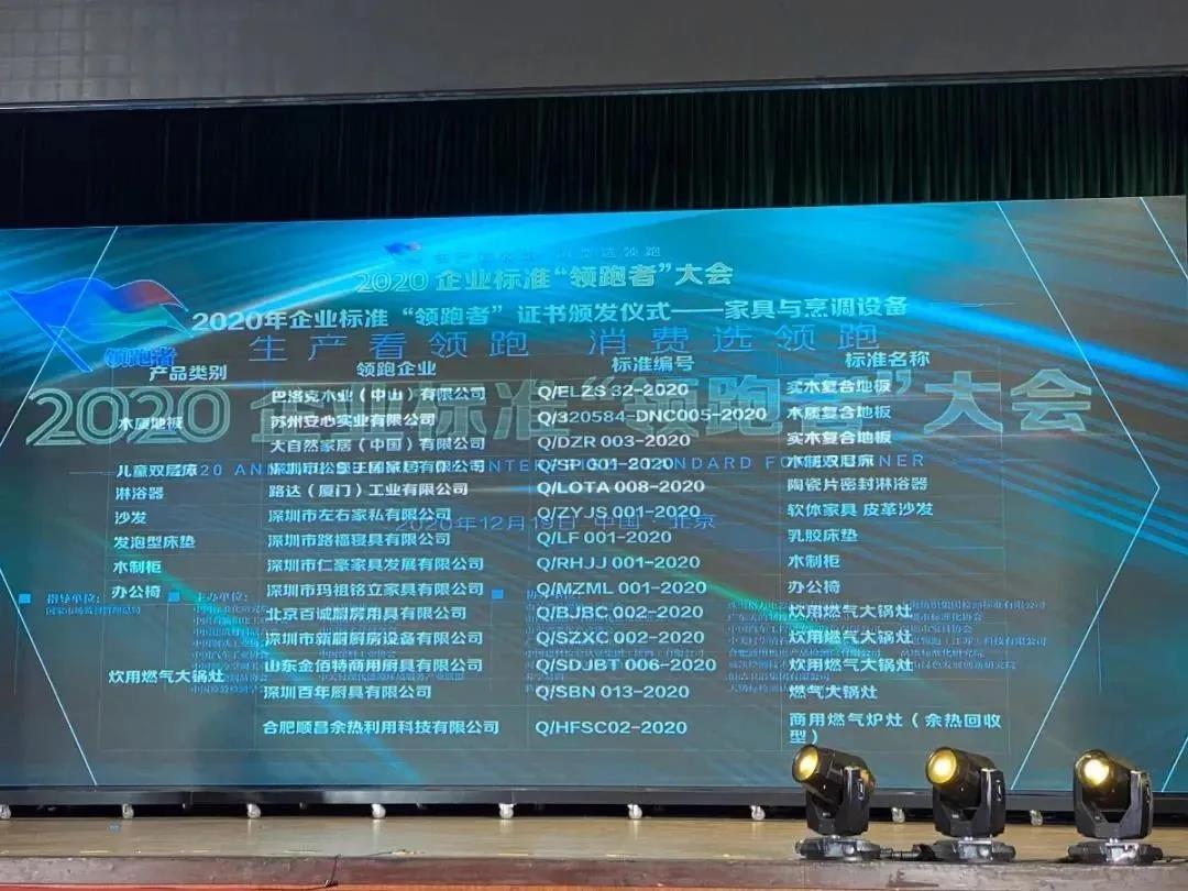 """热烈祝贺深圳百年、深圳新厨、广东星星等三家我会会员企业荣获中国质量认证中心颁发的2020年企业标准""""领跑者""""称号"""
