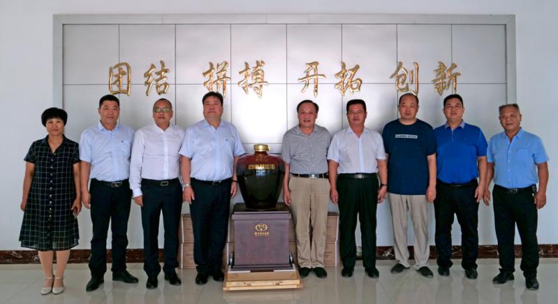 茅臺集團白金酒公司參訪濟南商河四建有限公司