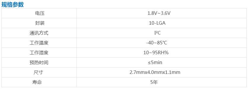 CCS811空气质量VOC传感器