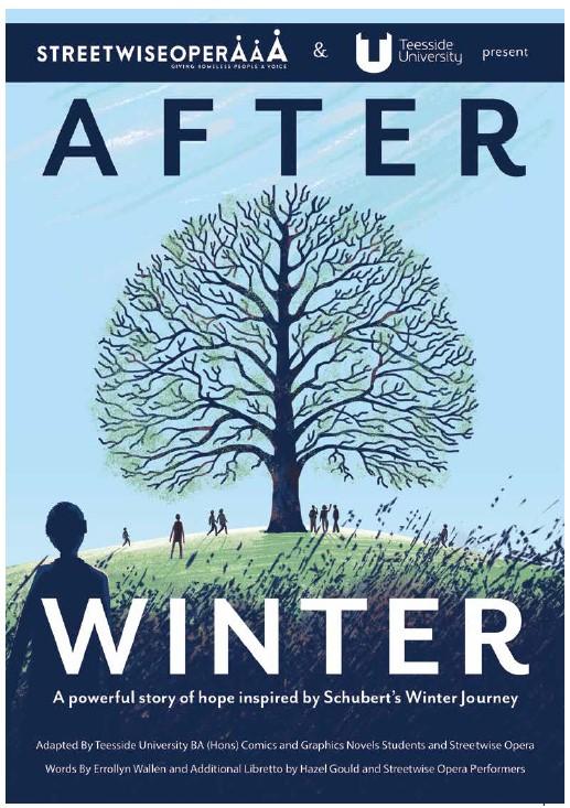 提赛德大学与Streetwise 歌剧院合作,出版舞台剧《冬天过后》限量版漫画小说