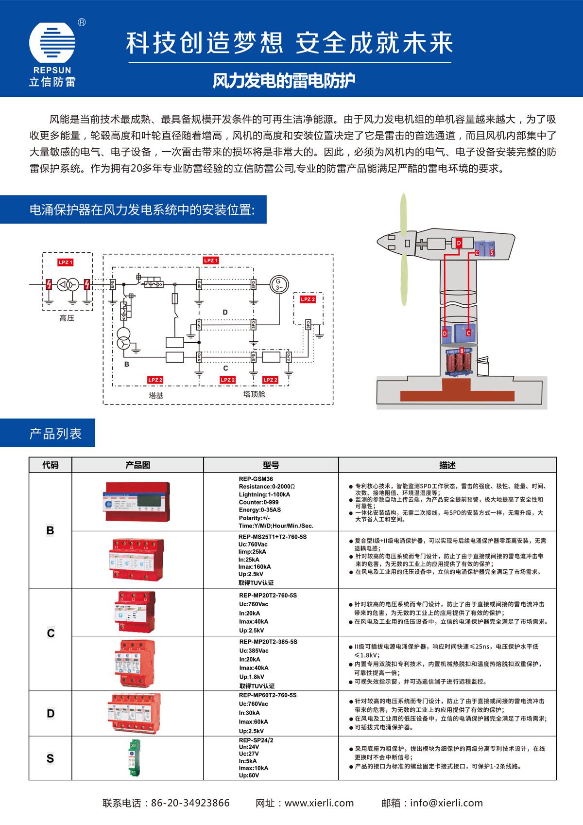 风力发电的雷电防护