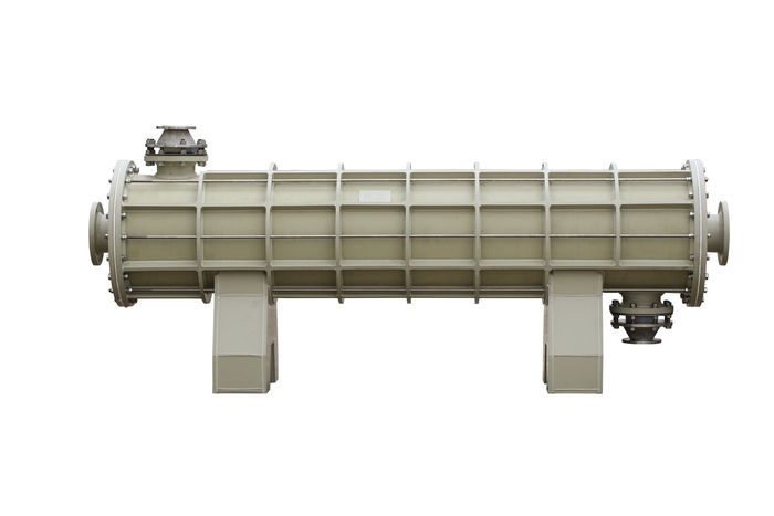 Inline Fluoropolymer Chemical Heat Exchangers