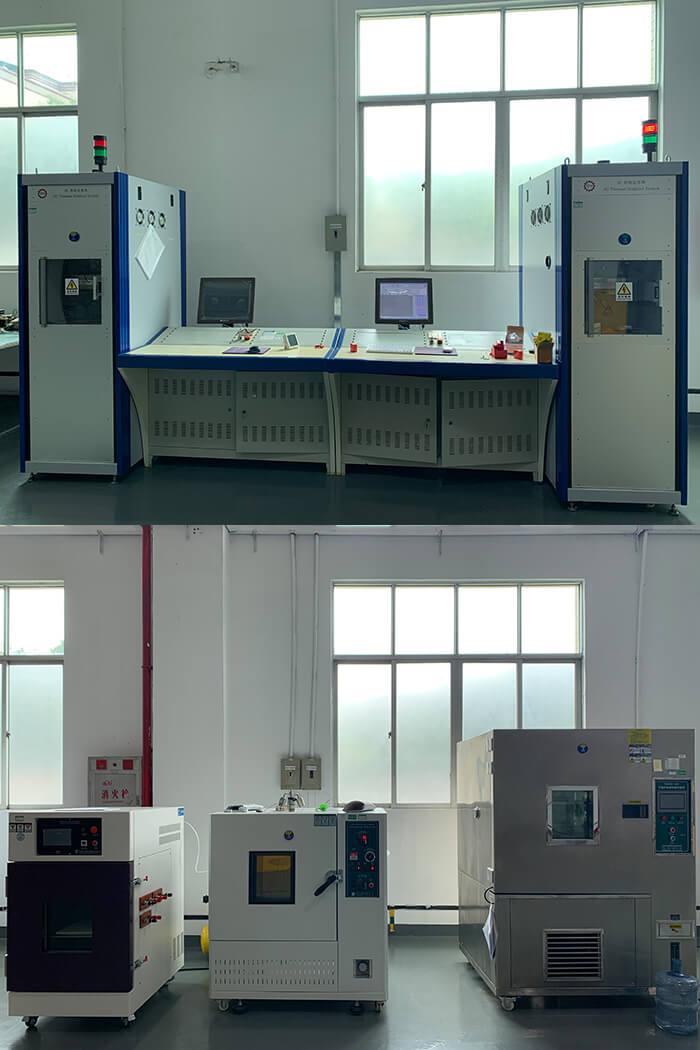立信团队成员去参观产品的实验室