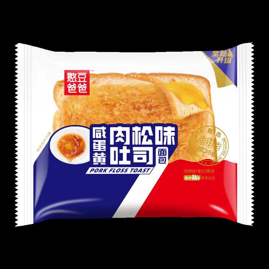 咸蛋黄肉松味吐司