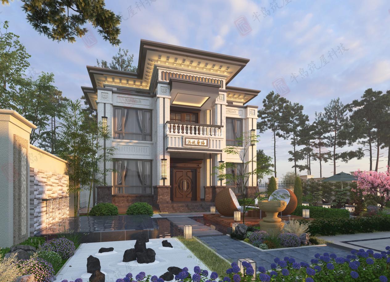 武汉农村自建别墅怎么做,半岛筑屋欧式风格了解下