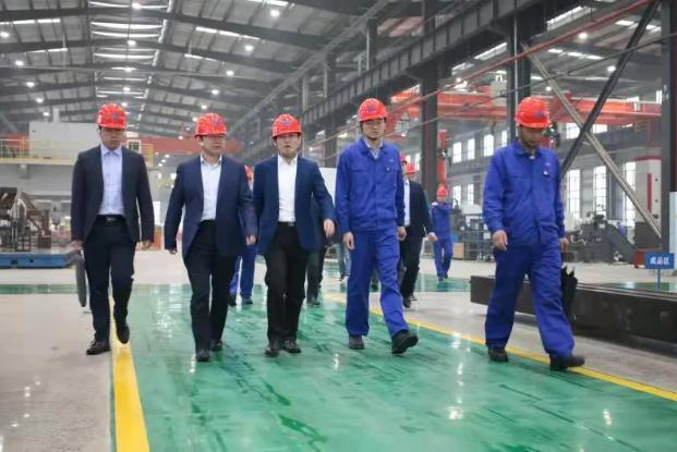 中国安能集团副总经理周庆丰到中船应急赤壁产业园参观考察