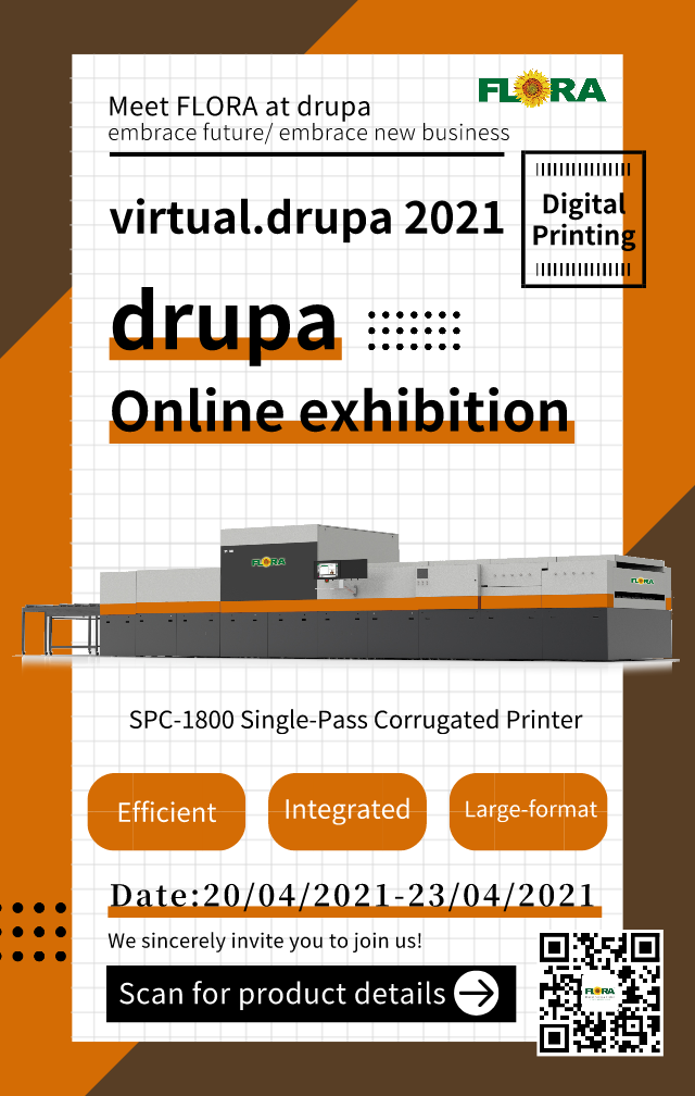 Meet FLORA at Virtual.Drupa Show from 20 to 23 April 2021!