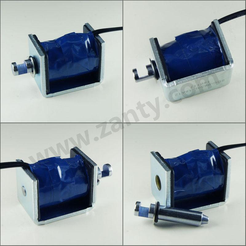 SDC-0630L系列电磁铁 收银箱锁开关用框架式推拉电磁铁