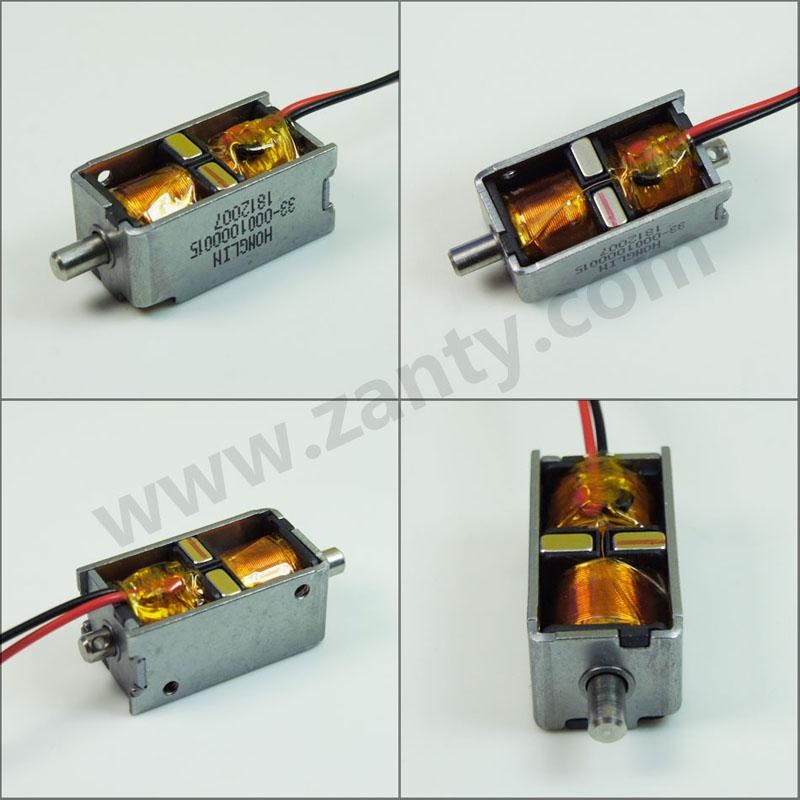 双保持电磁铁SDK2-0730S系列电子锁  新能源汽车直流充电枪电磁锁