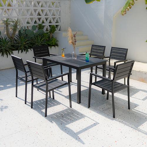 Aluminum chair and table set / Алюминиевый стул и столовый набор