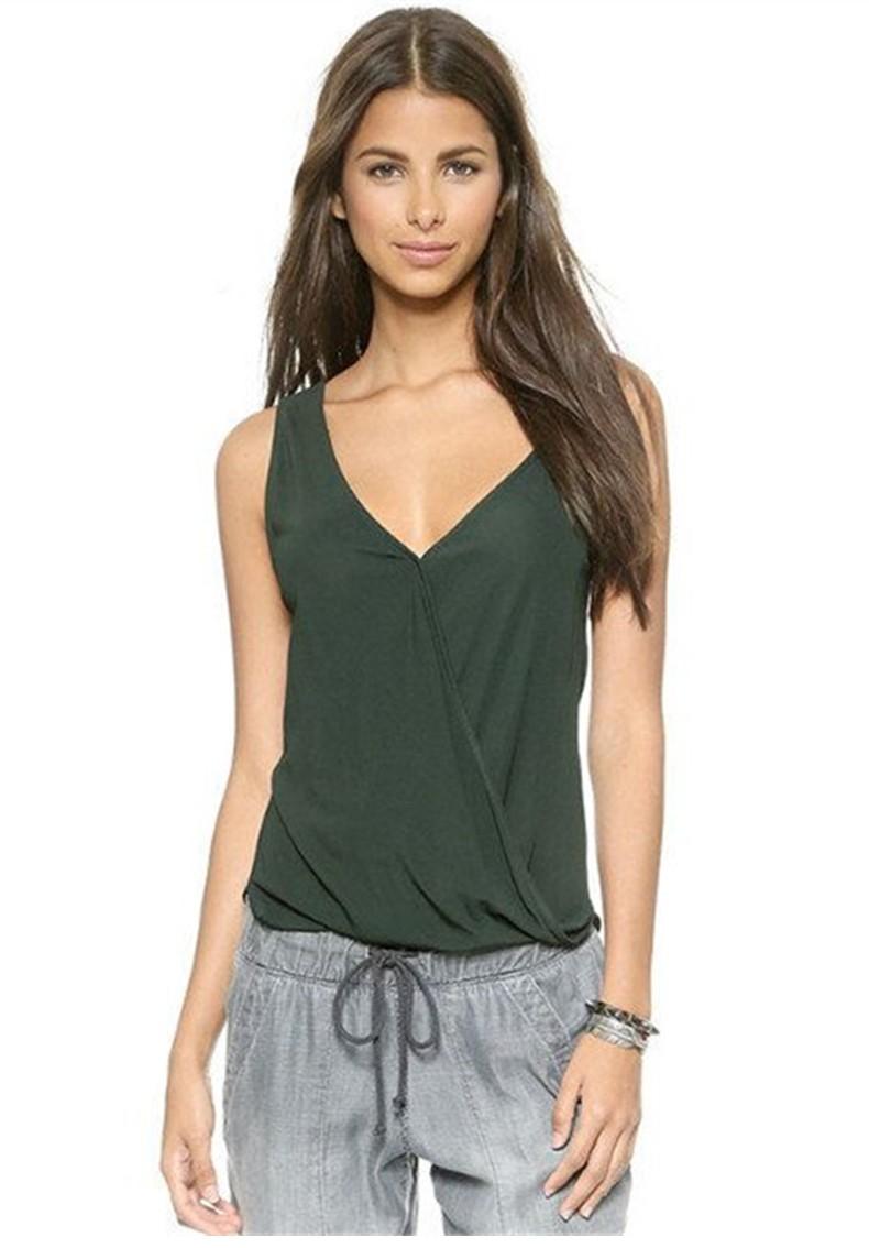MANNI Adjustable Camisoles Women Basic Undershirt Spaghetti Strap V Neck Tank Top