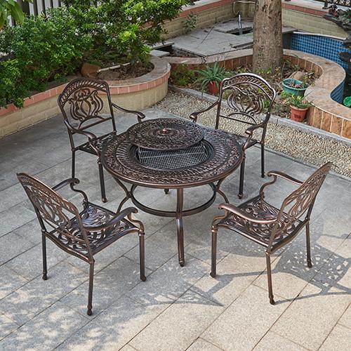 Cast aluminum BBQ table set / Литой алюминиевый набор столов для барбекю