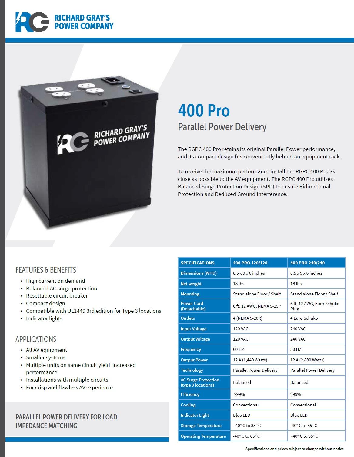 RGPC-400Pro净化电源