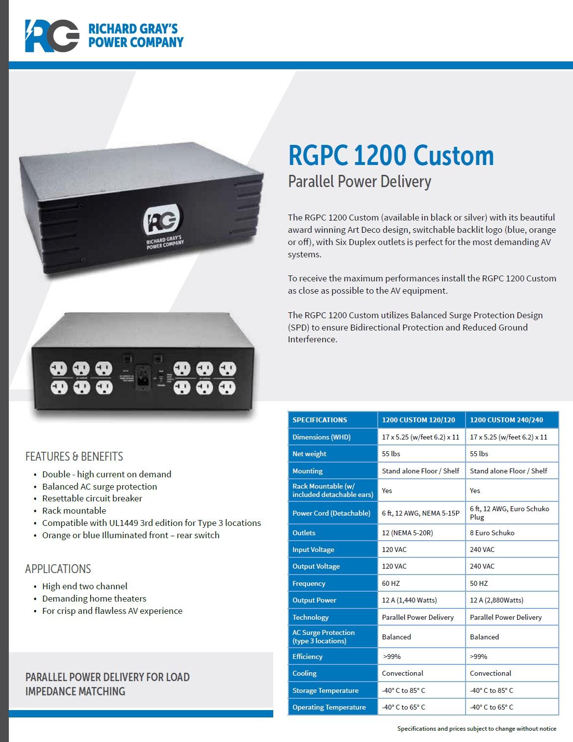 RGPC-1200C净化电源