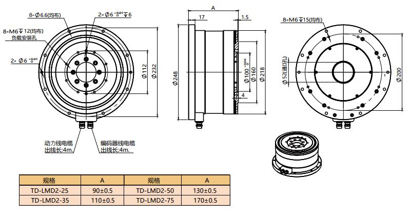 拓达直驱电机TD-LMD2系列