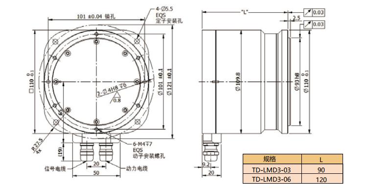 拓达直驱旋转马达TD-LMD3系列