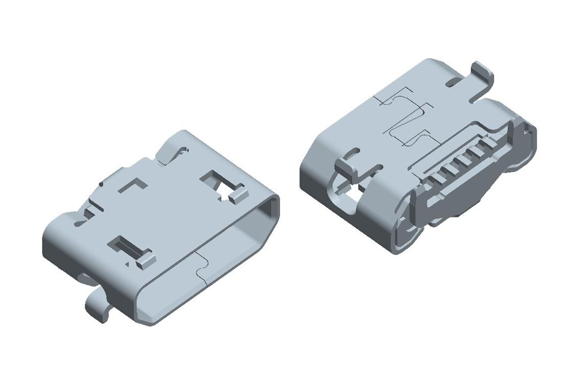 Micro USB 5Pin CONN(30u