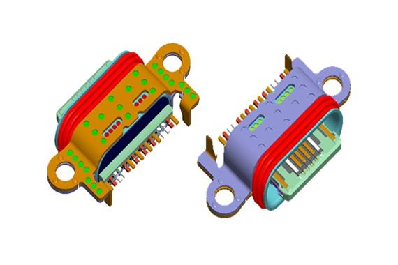 16 Pin Type-C REC 防水 CONN-3.119