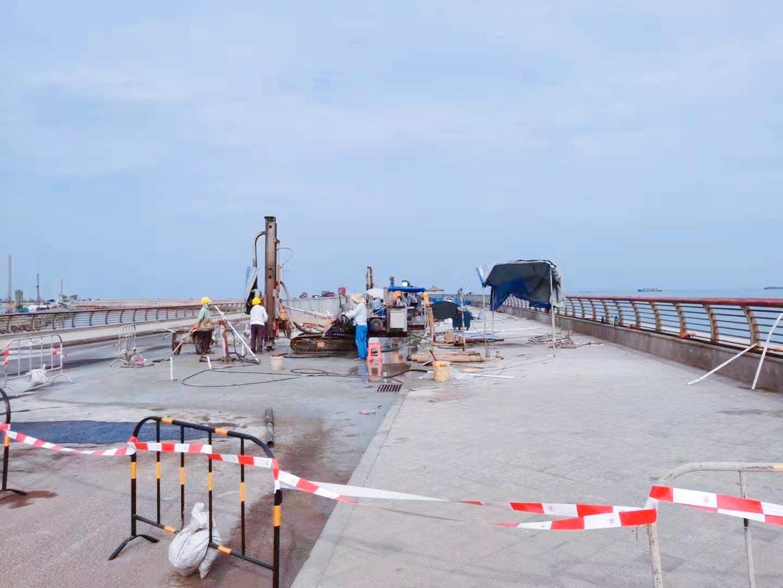 海南某人工岛1#涵管桥渗漏处治工程圆满完工