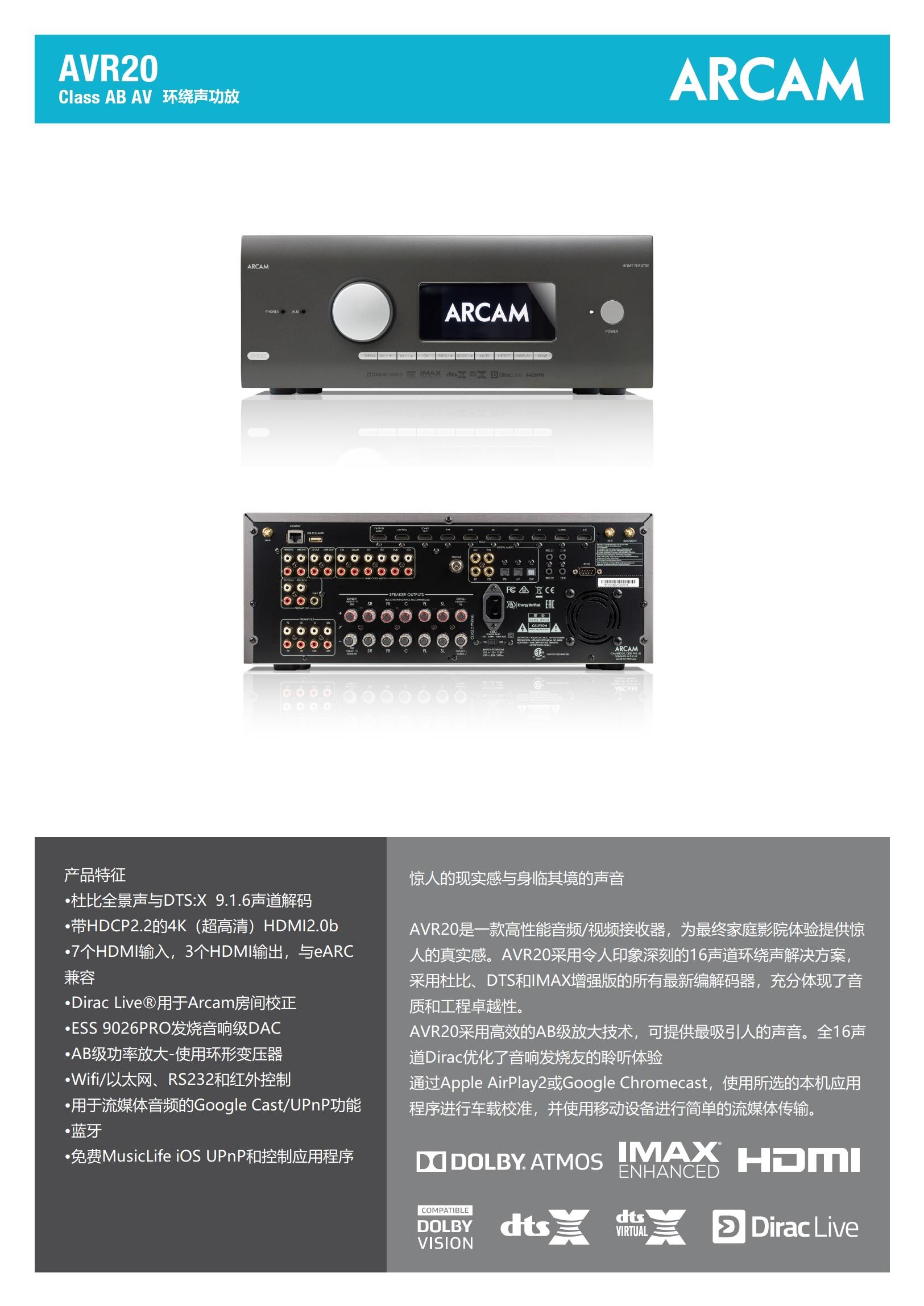 AVR20环绕声功放