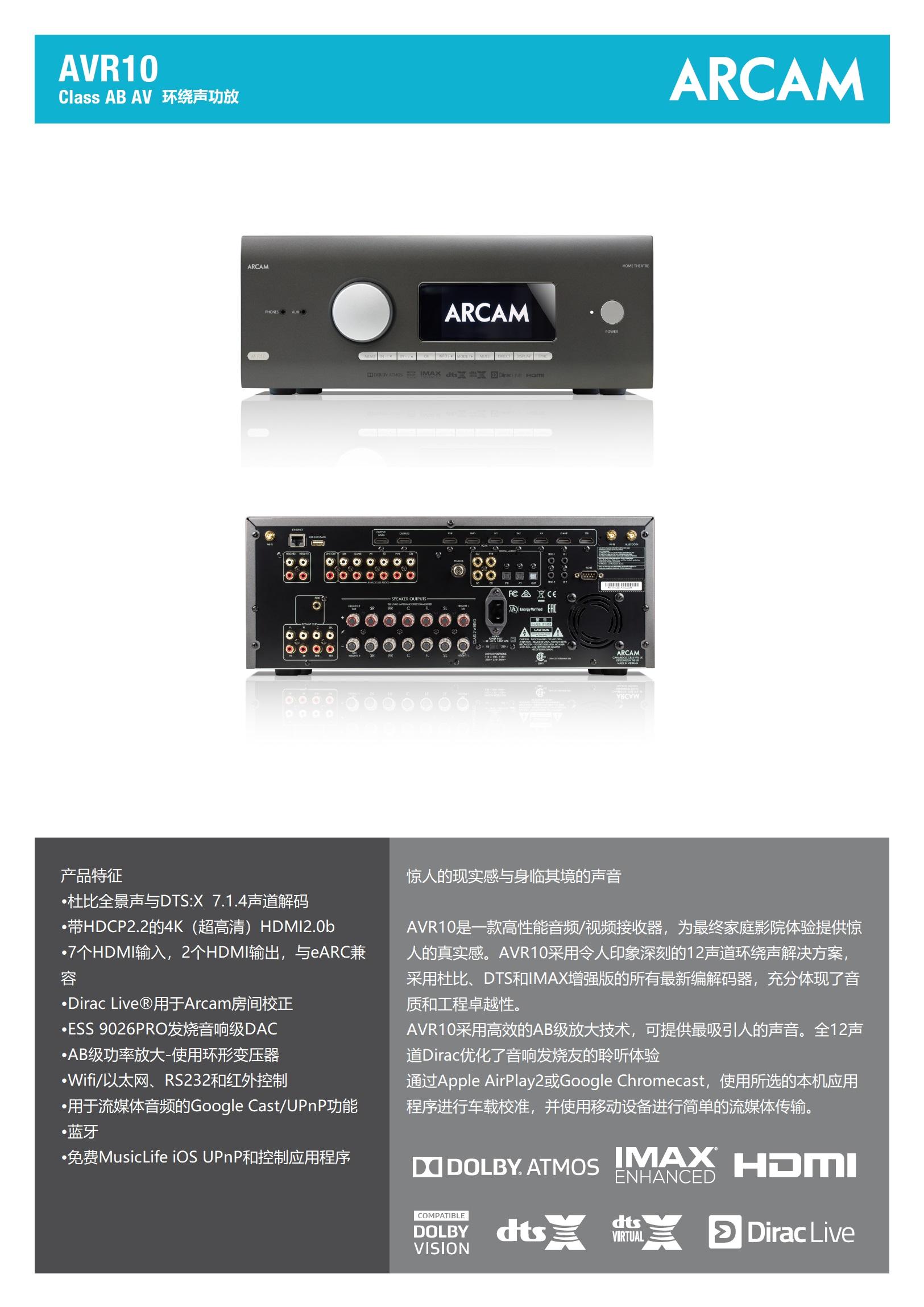 AVR10环绕声功放