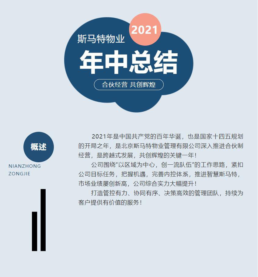 合伙經營 共創輝煌—2021年斯馬特物業年中總結