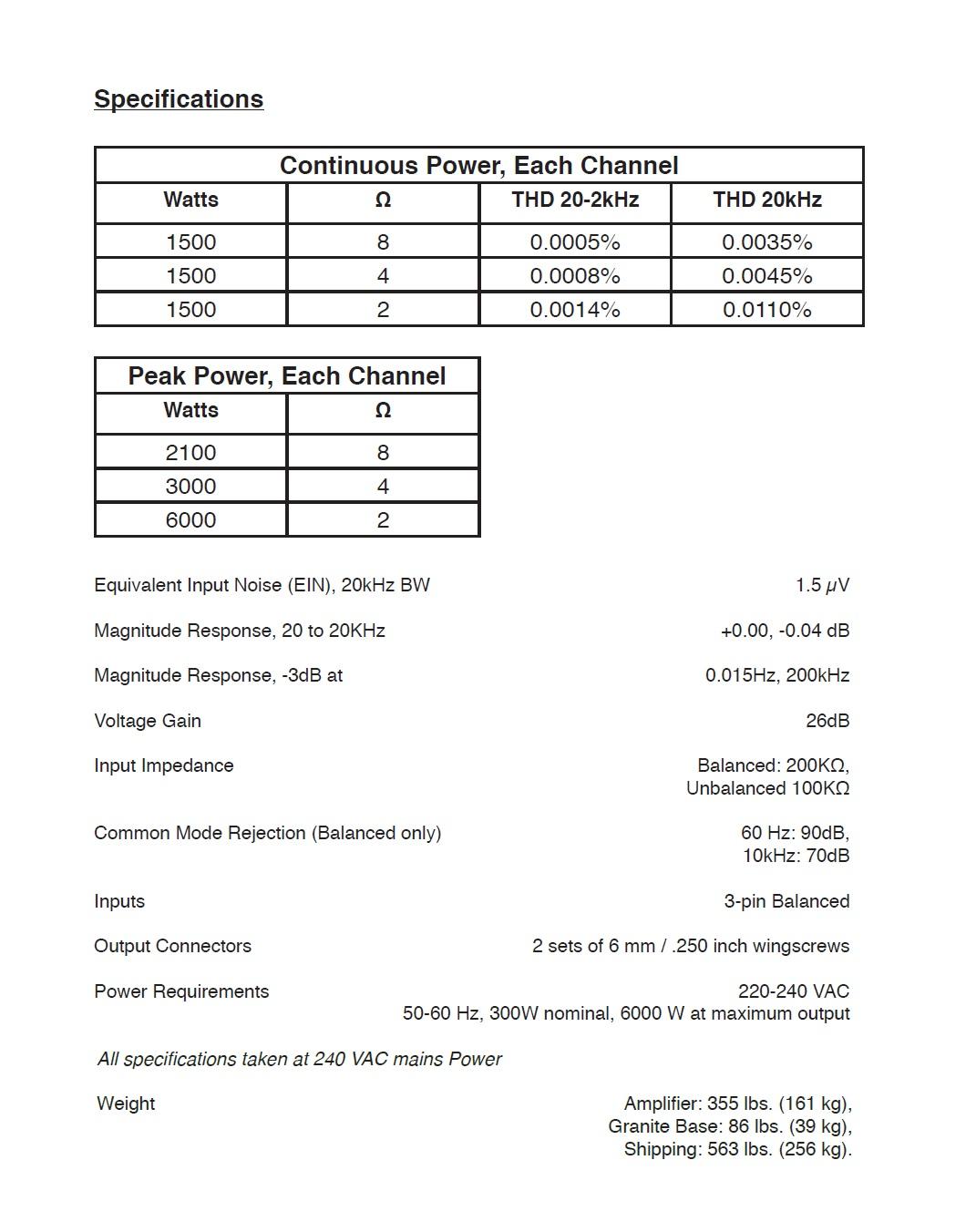 3050旗舰参考级单声道功率放大器