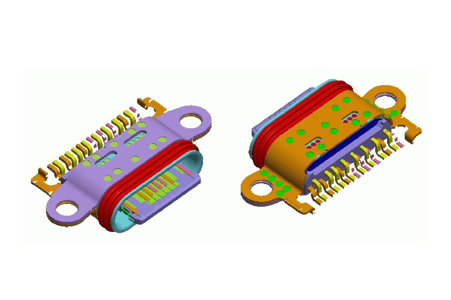 16 Pin Type-C REC 防水 CONN-3.113A4