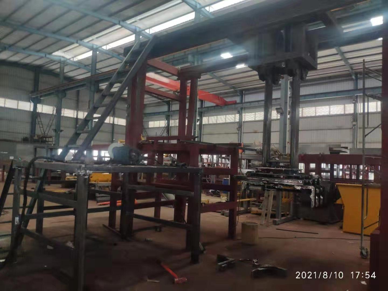 中材建科高位码垛机生产过程