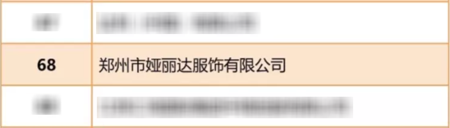 """喜报丨YERAD娅丽达上榜""""中国服装行业百强企业""""!"""