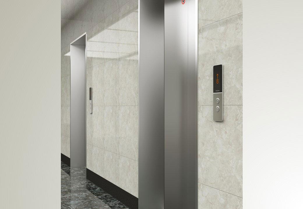 办公楼内乘客电梯有什么样的装潢?