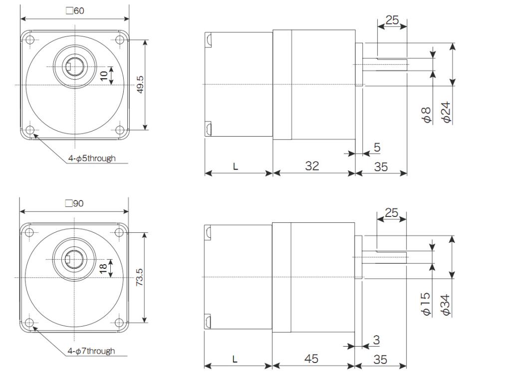 拓达2相60mm90mm减速步进电机套装